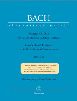 Bach, Konzert in E-Dur