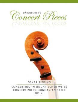 Rieding, Concertino in ungarischer Weise, op. 21