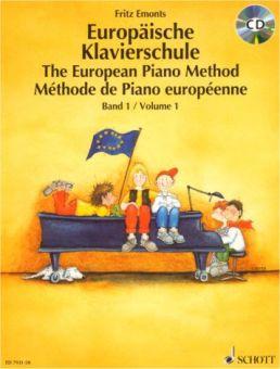 Emonts, Europäische Klavierschule 1 mit CD