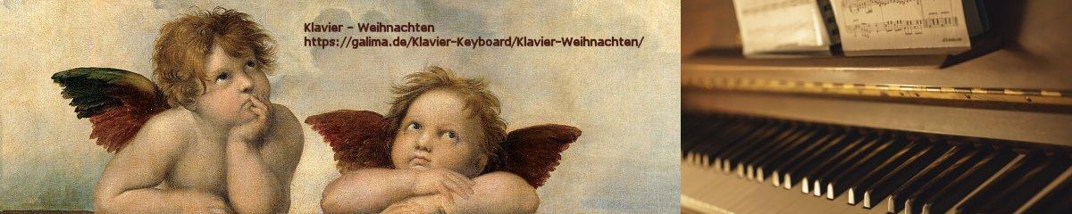 Banner Klavier Weihnachten