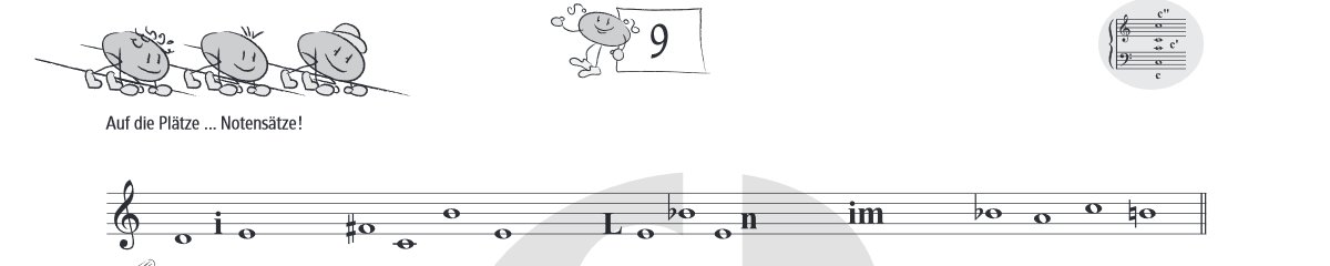 Banner Notenrätsel